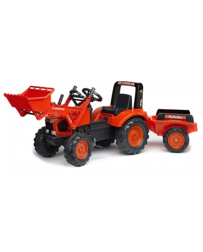 Falk Kubota M135GX Pedal Tractor with Front Loader and Trailer, Ride-on + 3 years FA2060AM