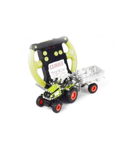 Tronico Micro Series - Claas Axion 850 with Trailer - Infra Red Controlled - 588 Parts - DIY Metal Kit T9501