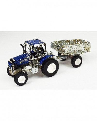 Tronico Micro Series - New Holland T5.115 with Trailer - 581 Parts - DIY Metal Kit T9560
