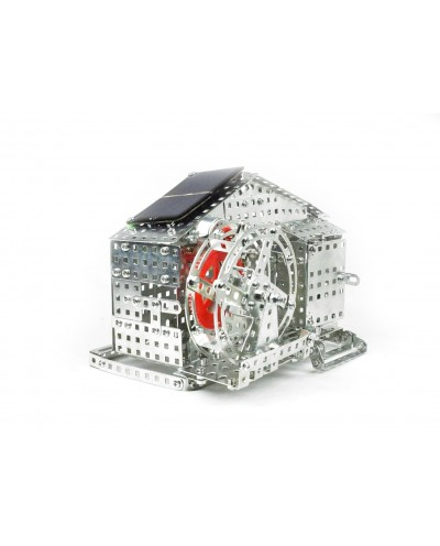 Tronico Profi Series - Water Mill Kit with Solar Power Cell - 625 Parts - DIY Metal Kit T10133