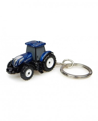 New Holland T7.225 Blue Power Tractor - Keychain Diecast
