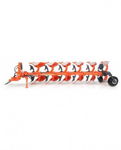 Universal Hobbies 1/32 Scale Kubota RM3005V 6-Furrow Reversible Mounted Plow Diecast Replica UH4932