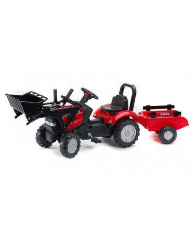 Falk Case IH Maxxum CVX 130 Pedal Tractor with Front Loader and Trailer, Ride-on +2 years FA961AM