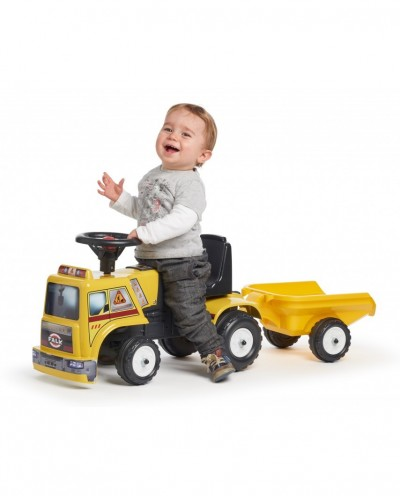 Truck - Construction - + Trailer - Push-Along - +1year