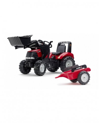Falk Case IH Puma CVX240 Pedal Tractor with Front Loader and Trailer, Ride-on +3 years FA996AM