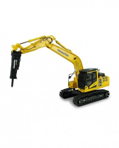 Universal Hobbies 1/50 Scale Komatsu PC210LC-11 with hammer drill Excavator Diecast Replica UH8140