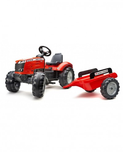 Falk Massey Ferguson 8740S Pedal Tractor with Trailer, Ride-on + 3 years FA4010AB