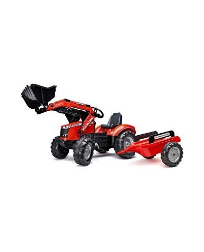 Falk Massey Ferguson 8740S Pedal Tractor with Front Loader and Trailer, Ride-on + 3 years FA4010AM