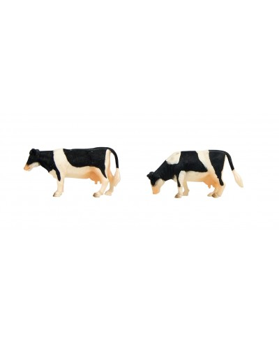 Kids Globe 1:32 Scale Black & White Cows Standing 2 pieces KG571873