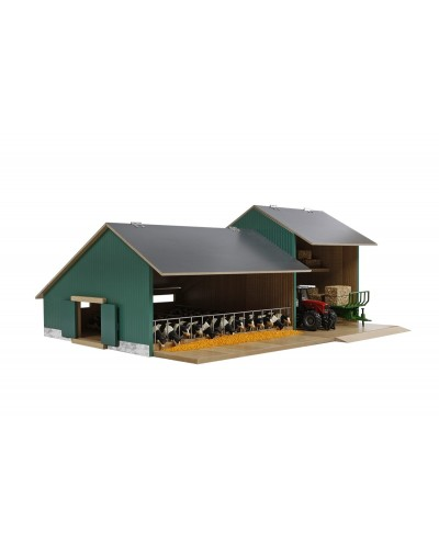 Cow stable with farmer shed