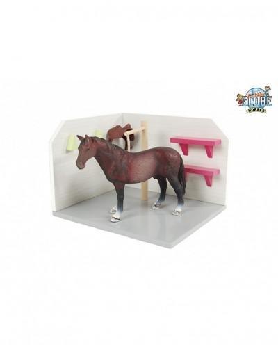 Kids Globe 1:24 Scale Wooden Horse Grooming Area KG610205