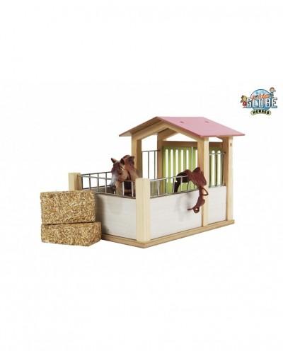 Kids Globe Horses 1:24 Scale Wooden HorseBox KG610206