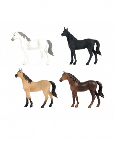 4 horse figurines colors assorted