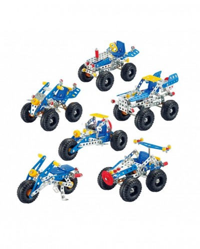 Tronico Starter Series Off-Roads Cars Multi models Construction Set 6 in 1 - 306 parts - DIY Metal Kit +8 years T9770A