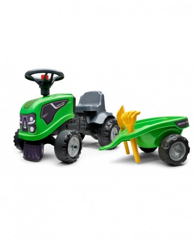 Falk Deutz-hr Tractor with trailer, Rake and Shovel, 2 sets of stickers,Ride-on and Push-along +1.5 years FA230C