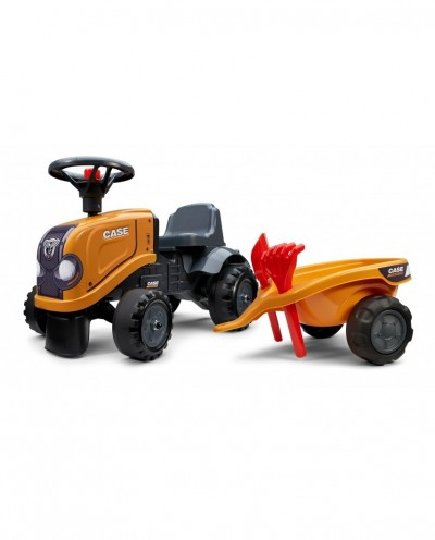 Falk Case CE Tractor with trailer, Rake and Shovel,  2 sets of stickers, Ride-on and Push-along +1.5 years FA297C