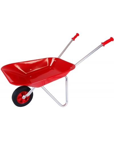 Metal Wheelbarrow with Rubber wheel - Red