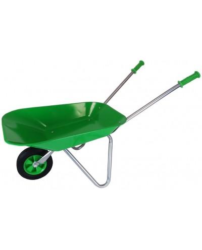 Metal Wheelbarrow with Rubber wheel - Green