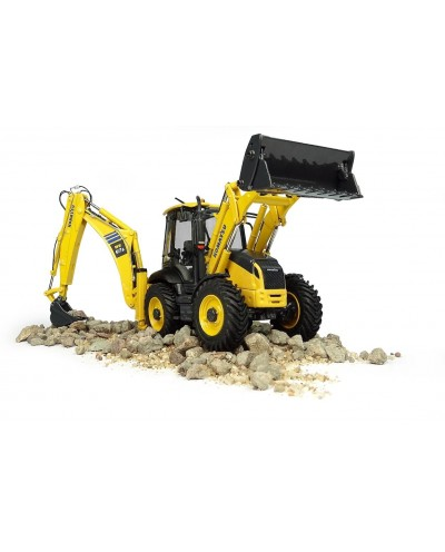 Universal Hobbies 1/50 Scale Komatsu WB97S-8 4WD Excavator with Front Loader and Backhoe Diecast Replica UH8139