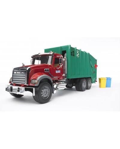 Mack granite garbage truck (ruby red-green)