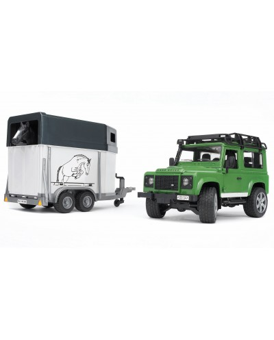 Land Rover Station Wagon w Horse Trailer & horse