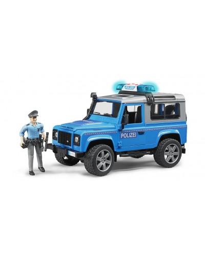 Land Rover police vehicle w light skin policeman