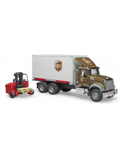 MACK Granite UPS logistcs truck w forklift