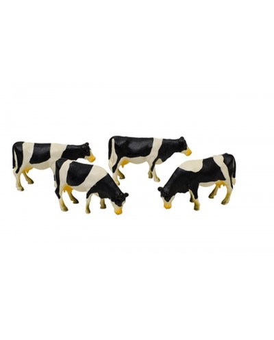 Black and white cow figurines