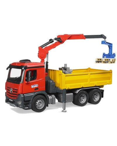 MB Arocs Constrution Truck with Crane and accessories