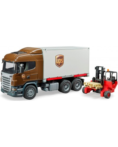 SCANIA R-Series UPS logistics truck w forklift