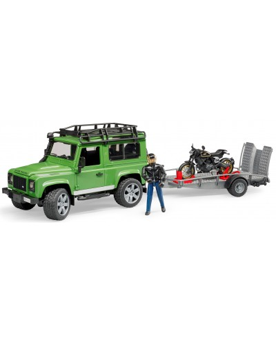 Land Rover Station Wagon with trailer, Scrambler Ducati Cafe