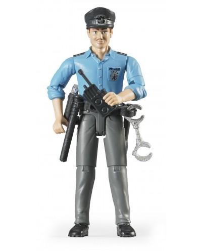 Policeman, light skin, accessories