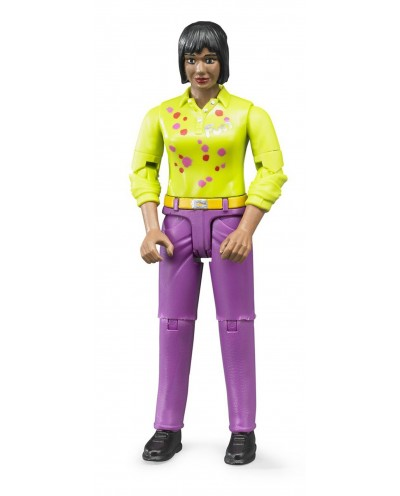Woman, medium skin, pink jeans