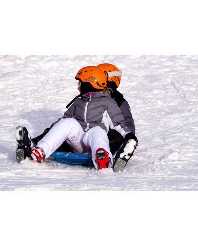 2 seats snow sled - blue