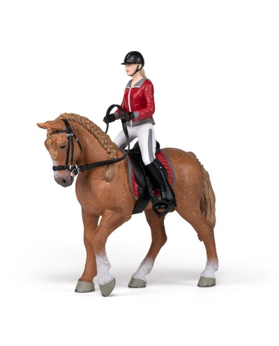 WALKING HORSE WITH RIDING GIRL