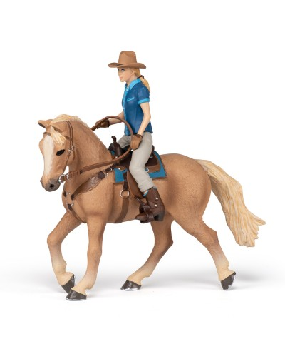WILD WEST HORSE AND COWGIRL
