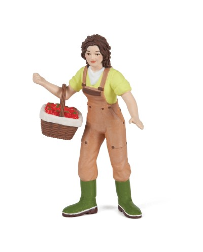 WOMAN FARMER WITH BASKET