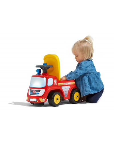 Falk Fireman Truck with opening seat and steering wheel with a horn, Ride-on and Push-along +1.5 years FA700